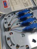 FTTH 8 puertos de terminación de Fo caja con el adaptador y en forma de espiral dentro de