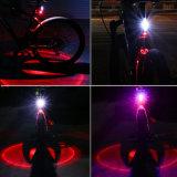 再充電可能な3カラー穂軸LEDのバイクの後部テール警察はつく