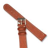 Cinta de relógio de couro Quick-Release com cauda redonda