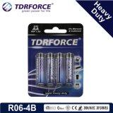 1.5V pilha resistente do carbono do zinco da bateria seca R14-C Size-Um2