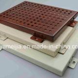 Los paneles de aluminio sólidos perforados revestidos del PE para los techos de aluminio