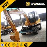 7 tonelada Wyl70 Excavadora de ruedas con motor Xinchai