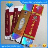 Contenitore di imballaggio cosmetico del cartone di carta olografico su ordinazione di colore