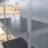Одиночный бортовой сверхмощный стеллаж для выставки товаров хранения цвета черноты полки