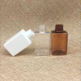 botella cuadrada plástica del aerosol de Brown del animal doméstico 50ml con el certificado del FDA