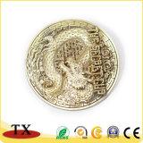 Kundenspezifische Metallmedaille mit Zink-Legierung geprägter Bronzedrache-Totem-Münzen-Medaille
