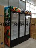 スーパーマーケットのための三重のガラスドアの商業直立したクーラー