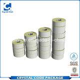 Étiquette blanche de papier de collant de transfert thermique