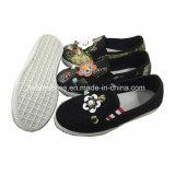 Les enfants de chaussures en toile Slip-on d'injection chaussures occasionnel de gros (ZL1219-3)
