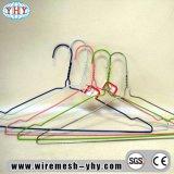 Ganci rivestiti variopinti del metallo del PVC della scanalatura dei ganci rotondi dei vestiti