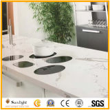 Calacatta Weiß-Farben-künstliche Quarzit-Eitelkeits-Oberseiten, KücheCountertops anpassen