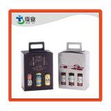 Eco a gettare amichevole toglie il contenitore di regalo impaccante piegante di carta di colore bianco per le bottiglie di vino triplici