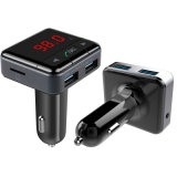 Il trasmettitore senza fili dell'automobile FM del giocatore di Bluetooth MP3 con la riga fuori funziona ed USD dell'automobile di caricatore Port del Mobile