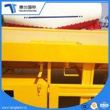 3 ejes 40-50 toneladas/plana de la placa plana el transporte de contenedores semi remolque con placa de cuadros