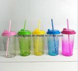 Freie trinkende Glasflasche mit Firmenzeichen-Drucken-Glasmaurer-Glas ohne Griff