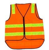 Het oranje Vest van de Veiligheid van de Kleur Weerspiegelende met Weerspiegelende Strook