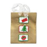 Дизайн подарок бумажные мешки с эмблемой (YH-PGB091)