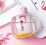 Nuova bottiglia di acqua di colore rosa di arrivo con la bottiglia di vetro della maniglia