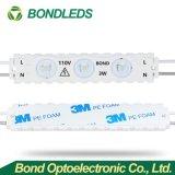 Nuevo AC110V/220V 3W de luz de alta potencia LED SMD 2835 Módulo de inyección con lente