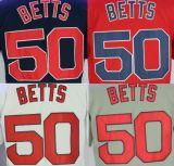 Baseball americano Jersey cucita migliore abitudine del Boston Red Sox #50 Mookie Betts