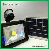 太陽LEDの洪水Light/50W/Solarのパネルまたは赤外線センサーのスイッチか白