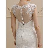 Nixe-Trompete-Brücke-Gerichts-Serien-SpitzeSequin Appliques Tulle-Hochzeits-Kleid