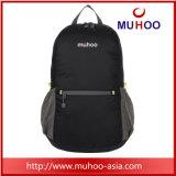 Black Packable Foladable caminhadas dia de viagem Pack Ginásio mochilas