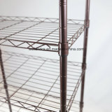 Nivel 5 independiente Pequeña Casa de metal recubierto de polvo de almacenamiento otros artículos rejilla de alambre