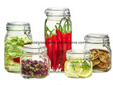 Dekoratives Glasnahrungsmittelspeicher-Glas mit Glaskappe