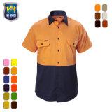 Overhemden van de Slijtage van het Werk van de Veiligheid van de Koker Vis van mensen hallo de Korte