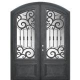 Modernas de seguridad de la puerta de entrada de hierro forjado para la entrada