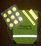 Saco para roupa suja de alta visibilidade com Adesivo Refletivo para Kits