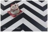 Европейский дуб разработаны Шеврон деревянный пол, шероховатый, Glazi Лак, белого и черного цвета