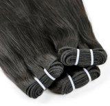9Um trabalho de produtos cabelo cabelos brasileiro tecem Bundles Cabelo Virgem Reta 105g, pacotes de extensão de cabelo humano Superior