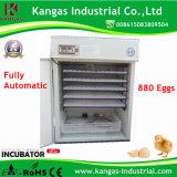 Incubateur d'oeufs de poulet automatique incubateurs solaire industriel pour la vente