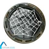 Coberturas de poço com rede de prevenção de queda