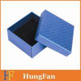 Color de lujo con el rectángulo de joyería negro del papel de la espuma