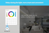 Brigtness 또는 색온도 또는 포화 조정가능한 LED 지구 관제사