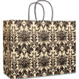 Onyx Damask Vogue Shoppers baratos reciclado Brown bolsas de papel Kraft