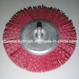 赤いカラーナイロン研摩シャフトの車輪のブラシ(YY-047)