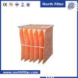 Filtro Pocket de superfície prolongado fundido derretimento dos media sintéticos