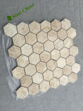 "Polished Honed 2 ""Hexagon Carrara Marble Mosaic"
