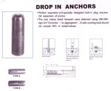 Hot Sale Galvanized Screw Anchor Drop in Anchor avec fiche