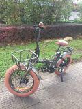 20 '' عجلة [48ف] [500و] [فودبل] يطوي كهربائيّة درّاجة [موونتين بيك] مع إطار العجلة سمينة