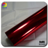 Tsautop 3 couches rouge miroir extensible Chrome film avec le canal de l'air