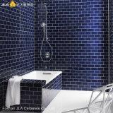 tegels van de Badkamers van de Keramiek van de Schat van 3X6inch/7.5X15cm de Blauwe Glanzende Verglaasde