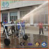 Irrigación agrícola con el arma de la lluvia