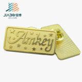 Изготовленный на заказ штыри нагрудной планки с фамилией участника металла СИД Sandy логоса нижним покрынные золотом