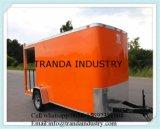 Chariot mobile de vente de nourriture avec le chariot de hot-dog de Refridgeator
