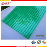 Garantie de dix ans Polycarbonate Hollow Roofing Policarbonato Solid PC Corrugated Sheet Price